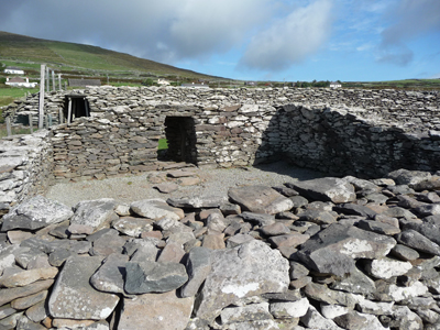 The ruins of an old fort called Dun Beg near Dingle