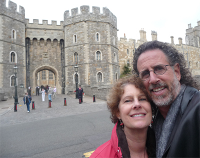Carol and David at Windsor Castle