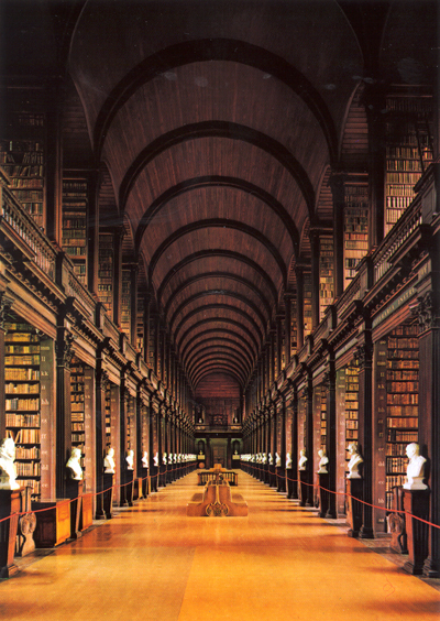 Library at Trinity College in Dublin