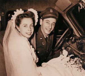 Mom and Dad are married in 1945