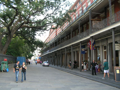 The west side of Jackson Square