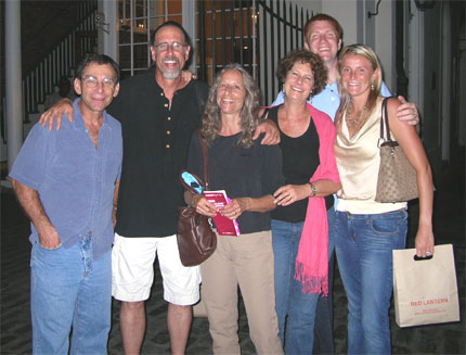 Andy, David, Vicky, Carol, Brad and Ali at 1AM in the French Quarter