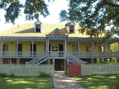 The Main House at Laura Plantation