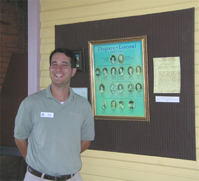 Jay, our remarkable guide at Laura Plantation