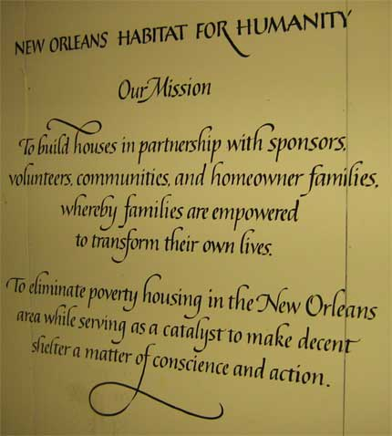 Habitat for Humanity New Orleans Mission Statement