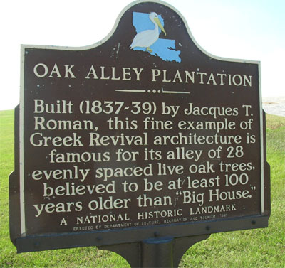 Some history of Oak Alley Plantation