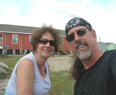 Carol and David at the Musician's Village site