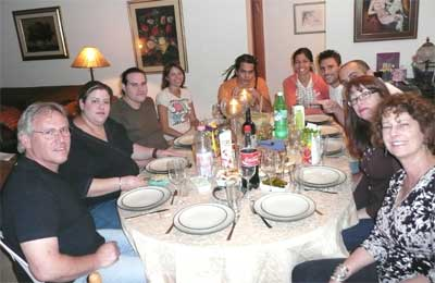 Carmi, Meira, family and friends