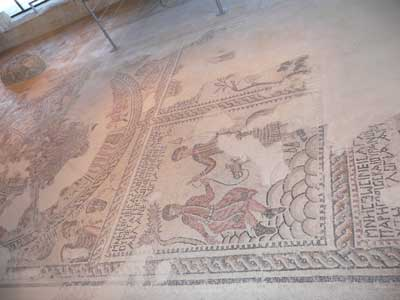 Ancient floor mosaic at Tsipori