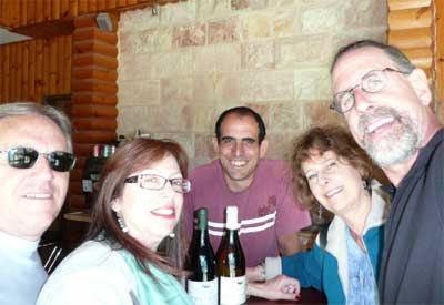 Carmi, Meira, Adam, Carol and David at the Odem Moutain Winery