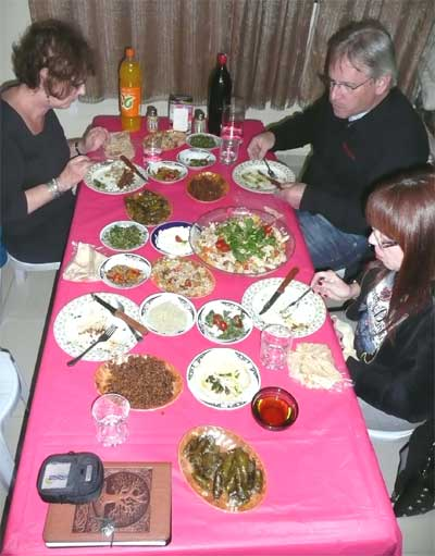 A Druze feast at Yuseph's house in Beit Jann