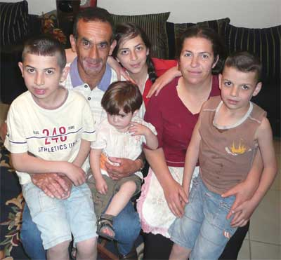 Yuseph Abuchaya and his family at their lovely home in the Druze village of Beit Jann in the Galilee