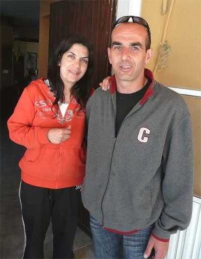 "Amin and his wife - our gracious hosts and owners of the B&B ""Touching the Sky"" in Beit Jann"