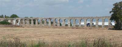 Ancient aquaduct on the way to Rosh-Hanikrah