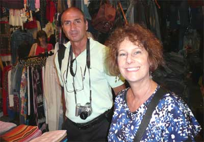 Shlomo and Carol at the ancient Jaffa market