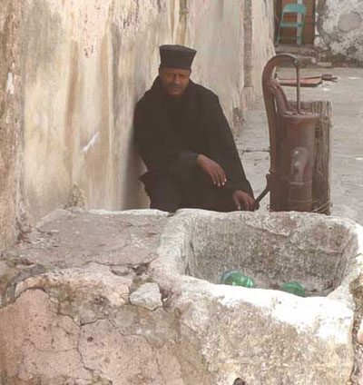 Ethiopian priest near the Church of the Holy Sepulchre