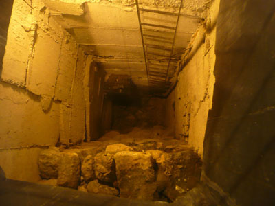Looking down through 100 feet (and thousands of years of history) in Jerusalem