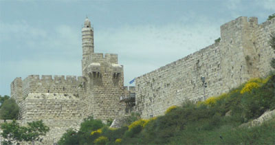 The ancient wall of Jerusalem