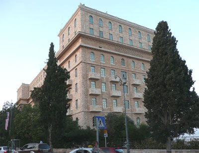 The King David Hotel (south side)