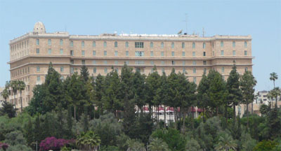The King David Hotel as seen from the west.