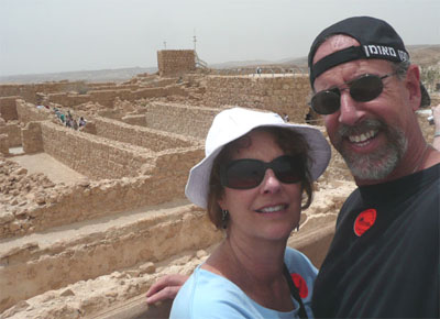 Carol and David at the top of Masada
