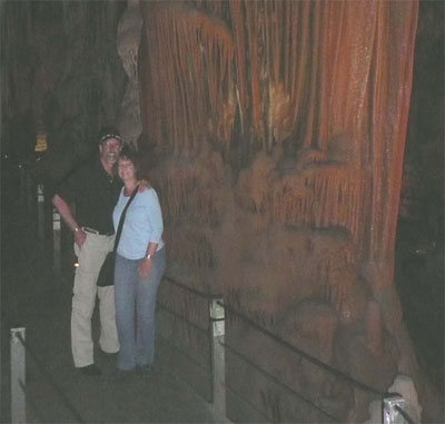 David and Carol deep inside Soreq Cave