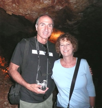 Shlomo and Carol inside Soreq Cave