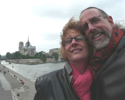 On our way to the Marais - our beloved Notre Dame in the background