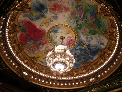 Marc Chagall's beautiful chadelier at the Opera