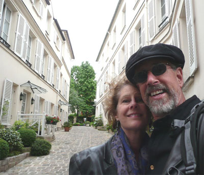 Carol and David at the lovely Hotel des Grande Ecoles