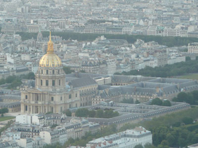 Les Invalides as seen from the top of le Tour Montparnasse