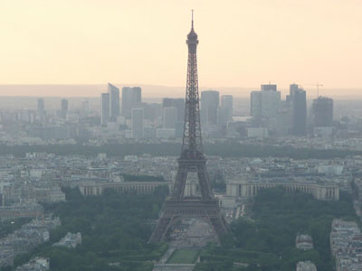Le Tour Eiffel as seen from le Tour Montparnasse