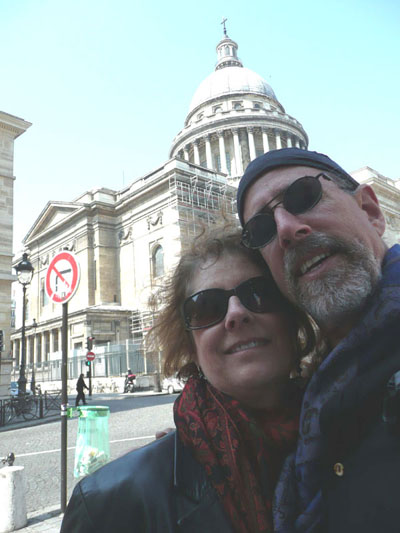 Carol and David with the Pantheon in the background