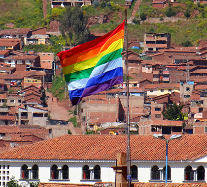 Indigenous flag in Cusco