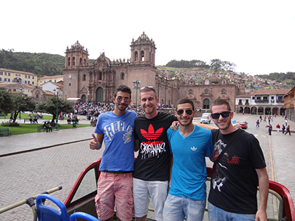 Israeli guys on our tour bus in Cuzco