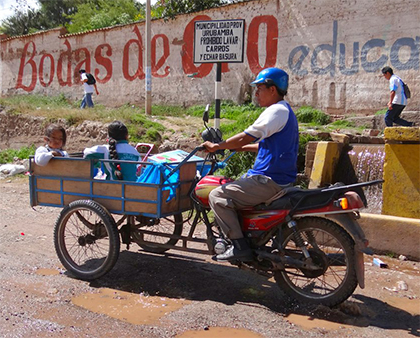 Popular form of transportation in the Sacred Valley