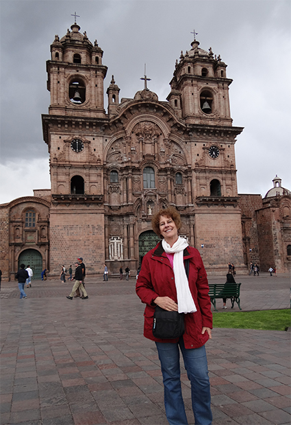 Carol at the Cathedral of Santo Domingo
