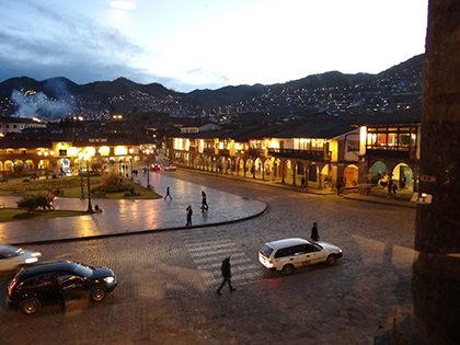 Cuzco at dusk