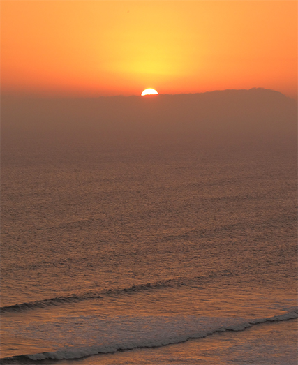Sunset at Miraflores, Lima, Peru
