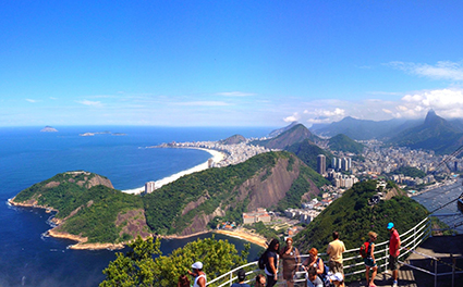 View of Copacabana and the Lagoon from Sugarloaf Mountain