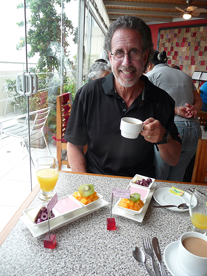 Delicious breakfast at Hotel Runcu, Miraflores, Lima, Peru