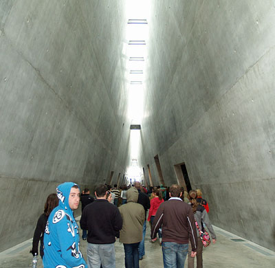 Interior of the Holocaust Museum at Yad Vashem