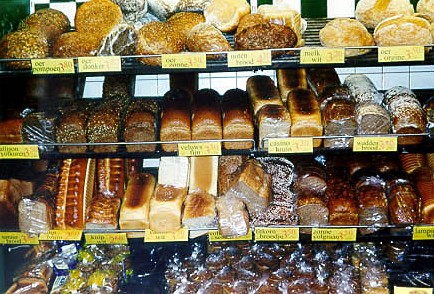 Many varieties of breads...