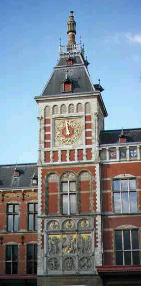 The ornate weather vane at Centraal Station