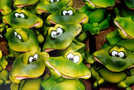 Frogs at the Bloemenmarkt