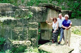 Carol, Bob and Nora at the Etruscan / Roman ruins