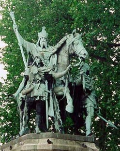 Statue of Charlemagne at Notre-Dame