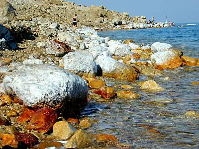 Along the shore of the Dead Sea