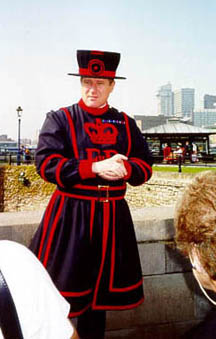 Our tour guide (a Beefeater) at the Tower of London