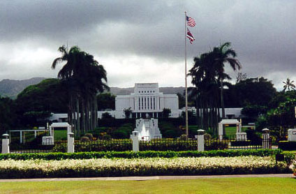 Mormon Temple on Oahu